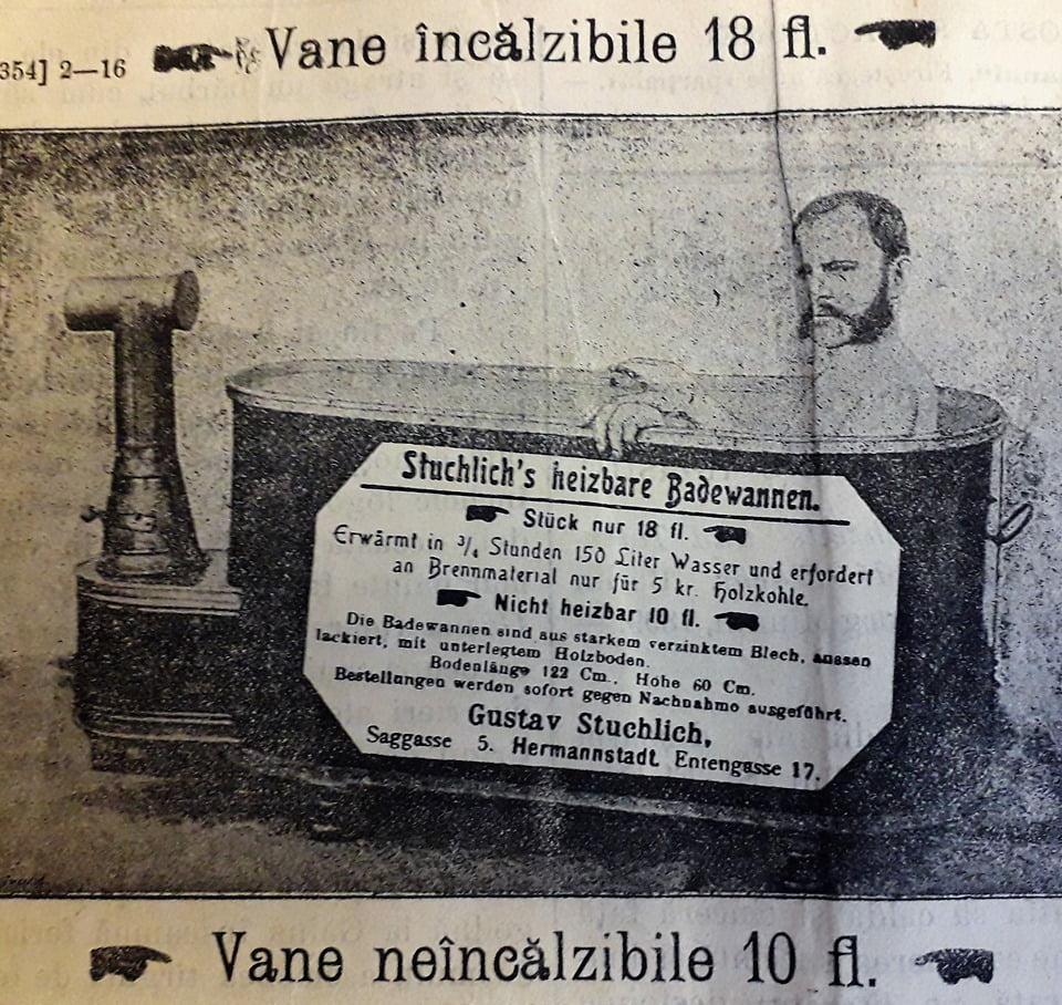 Igiena corporală anii 1900 - îmbăierea în cadă și folosirea sistemului de duș 1