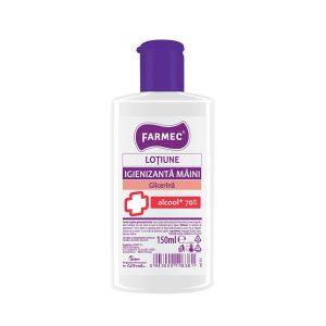 Dezinfectant mâini Farmec Loțiune Igienizantă pentru Mâini cu Alcool 70% și Glicerină farmec dezinfectant cu glicerina