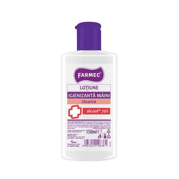 Dezinfectant mâini Farmec Loțiune Igienizantă pentru Mâini cu Alcool 70% și Glicerină farmec