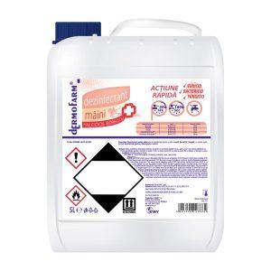 Dezinfectant Mâini cu Alcool 80%, biocid cu acțiune rapidă 5 L