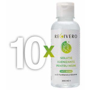 Pachet START-UP 10 x soluție igienizantă pentru mâini cu 70% alcool